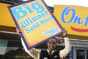 Manager Mohammed Faruk is hoping the big winner is one of his Mobil Pakakura regulars. Photo / Sarah Ivey