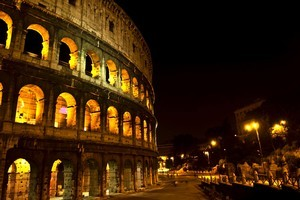 The Colosseum at night in Rome is just one of the things Europe has to offer. Photo / Thinkstock