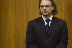 Clayton Weatherston stands in dock at the start of his trial for the murder of Dunedin Woman Sophie Elliott in the Christchurch High Court. File Photo / APN