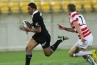 Benji Marshall on the burst for the Kiwis against England in Wellington last night. Photo / Getty Images