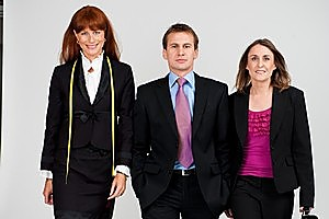 Victoria Carpenter, Julie Cressey and Duncan Thomas from Would Like to Work. Photo / Supplied.