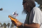 Matthew Dowd performing at Venice Beach, in Los Angeles. Photo / Supplied