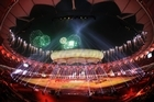 The closing ceremony of the 2010 Commonwealth Games. Photo / AP.