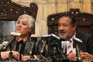 Maori Party co-leaders Tariana Turia and Pita Sharples. Photo / Mark Mitchell