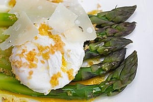 Asparagus, eggs and Parmesan. Photo / The Aucklander