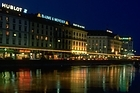 Night lights reflected in Lake Geneva. Photo / Geneva Tourist Office