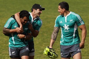 Ma'a Nonu may be under threat from Williams but it's all smiles in the All Blacks camp. Photo / Getty Images