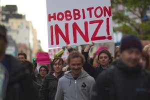 Protests in Wellington this week. Photo / Karim Sahai.