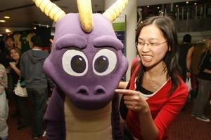 Spyro the dragon at Armageddon expo 2006. Photo / NZ Herald