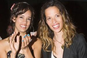 Runner-up Michaela Steenkamp (left) congratulates  Danielle Hayes. Photo / Paul Estcourt