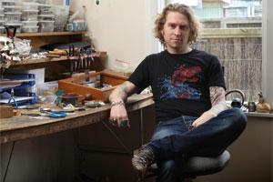Jeweller Nick Von K at his Grey Lynn workshop. Photo / Natalie Slade