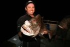 This 10kg 'old man snapper' was caught at night in moonlight. Photo / Geoff Thomas