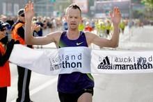 Dale Warrander took out the Auckland Marathon. Photo / Steven McNicholl