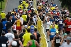 More than 14,000 people pounded the streets of Auckland in perfect weather. Photo / Steven McNicholl