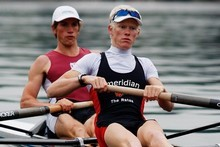 Men's Lightweight Coxless Pair Graham Oberlin-Brown (left) and James Lassche. Photo / Christine Cornege