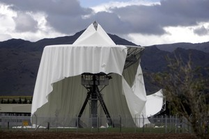 The damaged dome at Waihopai which led to the legal change. Photo / Tim Cuff