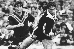 Kiwis vice-captain Mark Graham in action at the World Cup final in 1988. Photo / NZ Herald