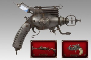 Thanks to Carnival Labs, us mere mortals can experiment with the weapons created by Weta genius Greg Broadmore. Photo / Supplied