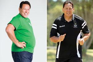 Buck Shelford sheds the weight. Photos / Supplied, Janna Dixon