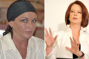 Schapelle Corby, left, and Australian Prime Minister Julia Gillard. Photos / AP
