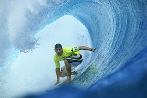 Andy Irons at the Quiksilver Pro in 2003. Photo / Getty Images