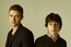 Justin Timberlake (left) and Jesse Eisenberg in  The Social Network . Photo / Supplied
