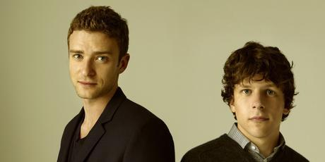 Justin Timberlake (left) and Jesse Eisenberg in <i>The Social Network</i>. Photo / Supplied