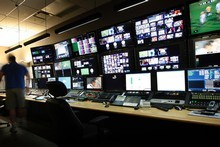 The Sky TV control room in Mt Wellington. Photo / Sarah Ivey