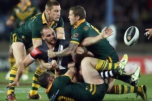 The Kiwis struggled last night. Photo / Getty Images