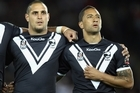 Captain Benji Marshall, right, feels they let the fans down. Photo / Getty Images