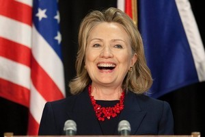 Hillary Clinton. Photo / Simon Baker