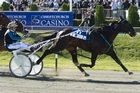 Monkey King, driven by Ricky May, wins the New Zealand Trotting Cup. Photo / Simon Baker