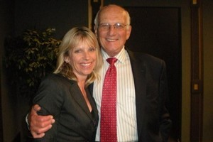 Catherine Newton with George Ross. Photo / Supplied