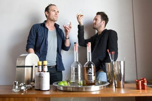 Roger Holmes (left) and Jamie Duff want to take Stolen Rum to the next level. Photo / Richard Robinson