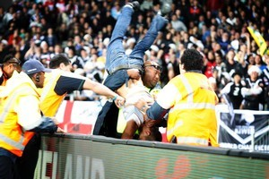 Drunken behaviour at sports games will expose us to all sorts of ridicule at the hands of international media. Photo / Richard Robinson