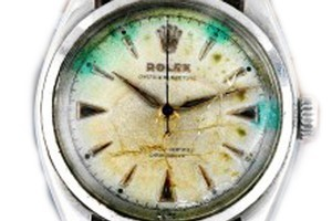 The Rolex worn by Sir Edmund Hillary during the TransAntarctic expedition of 1955-1958. Photo / Supplied