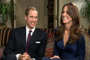 Prince William and Kate Middleton. Photo / AP