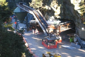 Tunnel entrance to Pike River Coal mine. Photo / NZ Herald