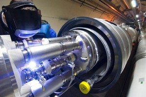 Emmanuel Tsesmelis says the latest Large Hadron Collider experiment is a big step towards understanding subatomic particles. Photo / CERN