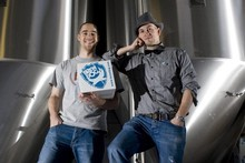 Martin Dickie (left) and James Watt at Brewdog. Photo / Supplied
