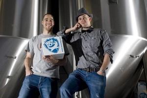 Martin Dickie (left) and James Watt at Brewdog. Photo / Supplied