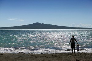 But tiny jellyfish spoilt a first swim at Takapuna. Photo / Herald on Sunday