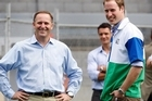 Prime Minister John Key and Prince William at Eden Park in Auckland. File photo / Sarah Ivey