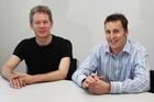 Biomatters' Brett Ammundsen and Mark Talbot. Photo / Sarah Ivey