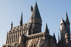 The magnificence of Hogwarts castle above Hogsmeade at The Wizarding World of Harry Potter in Florida. Photo / Kevin Kolczynski