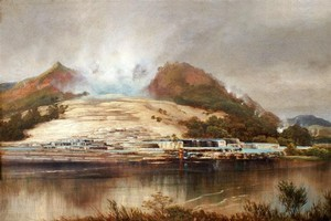The Pink and White Terraces were submerged after the eruption of Mount Tarawera in 1886. Photo / Supplied