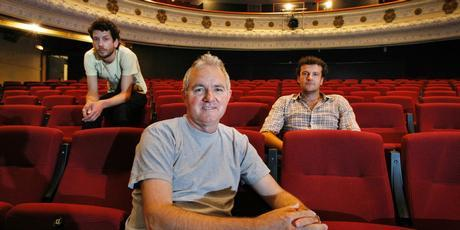 EXPERTS: (Left to right) Leon Rajdokovic, festival artistic director David Malacari and Oliver Driver at the Mercury Theatre, one of the festival venues. Photo / Steven McNicholl