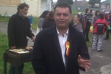 Matt McCarten at his BBQ. Photo / Audrey Young