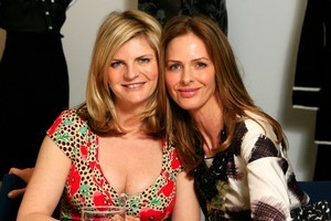 Buxom Susannah Constantine (L) was found to have the slim variant of the FTO 'fat' gene, while slim Trinny Woodall (R) was found to have the fat variant. Photo / Martin Sykes