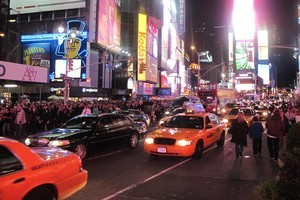 The hubbub of Times Square. Photo / Chris Reed